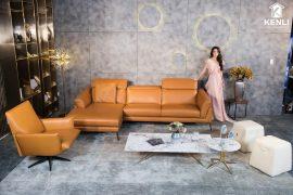 Sofa da thật F021 văng L (L2920xW1730xH750)