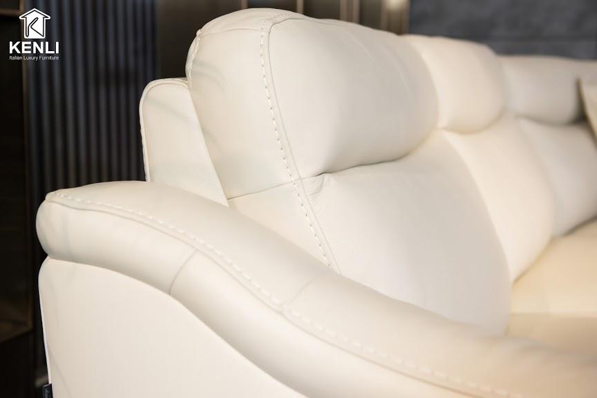 Sofa da thật EE27 văng L4