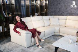 Sofa da thật EE27 văng L (L3870xW3060xH920)