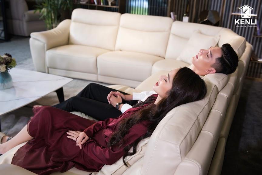 Sofa da thật EE27 văng L8