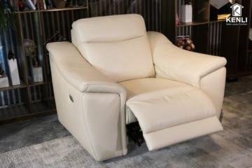 Sofa da thật EE27 văng đơn DC (L1260xW1000xH920);