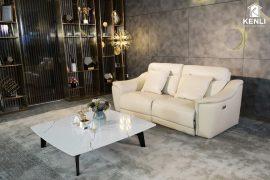 Sofa da thật EE27 văng 2 DC (L2260xW1000xH920)