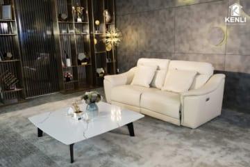 Sofa da thật EE27 văng 2 DC (L2260xW1000xH920);