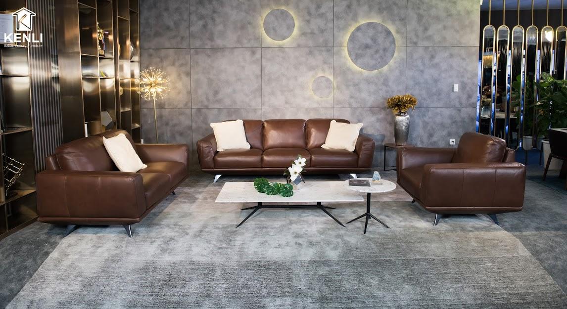 Sofa da thật F019 full bộ2