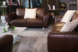 Sofa da thật MD F019 văng 2 nhỏ (L1800xW970xH860)