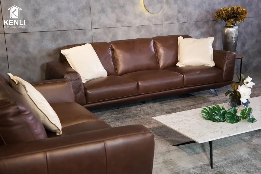 Sofa da thật F019 full bộ5