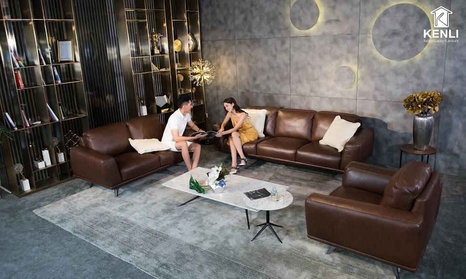 Sofa da thật MD F019 văng L33