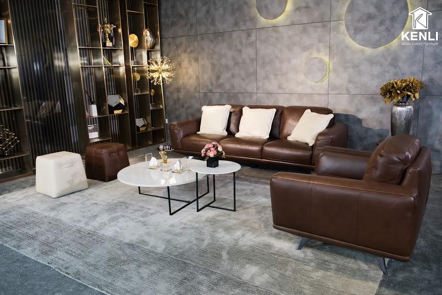 Sofa da thật MD F019 văng đơn8