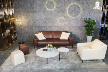Sofa da thật Sissy E119 văng 2 (L2210xW1060xH820)
