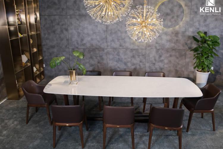 Bàn ăn Concorde 8 ghế với thiết kế tinh tế