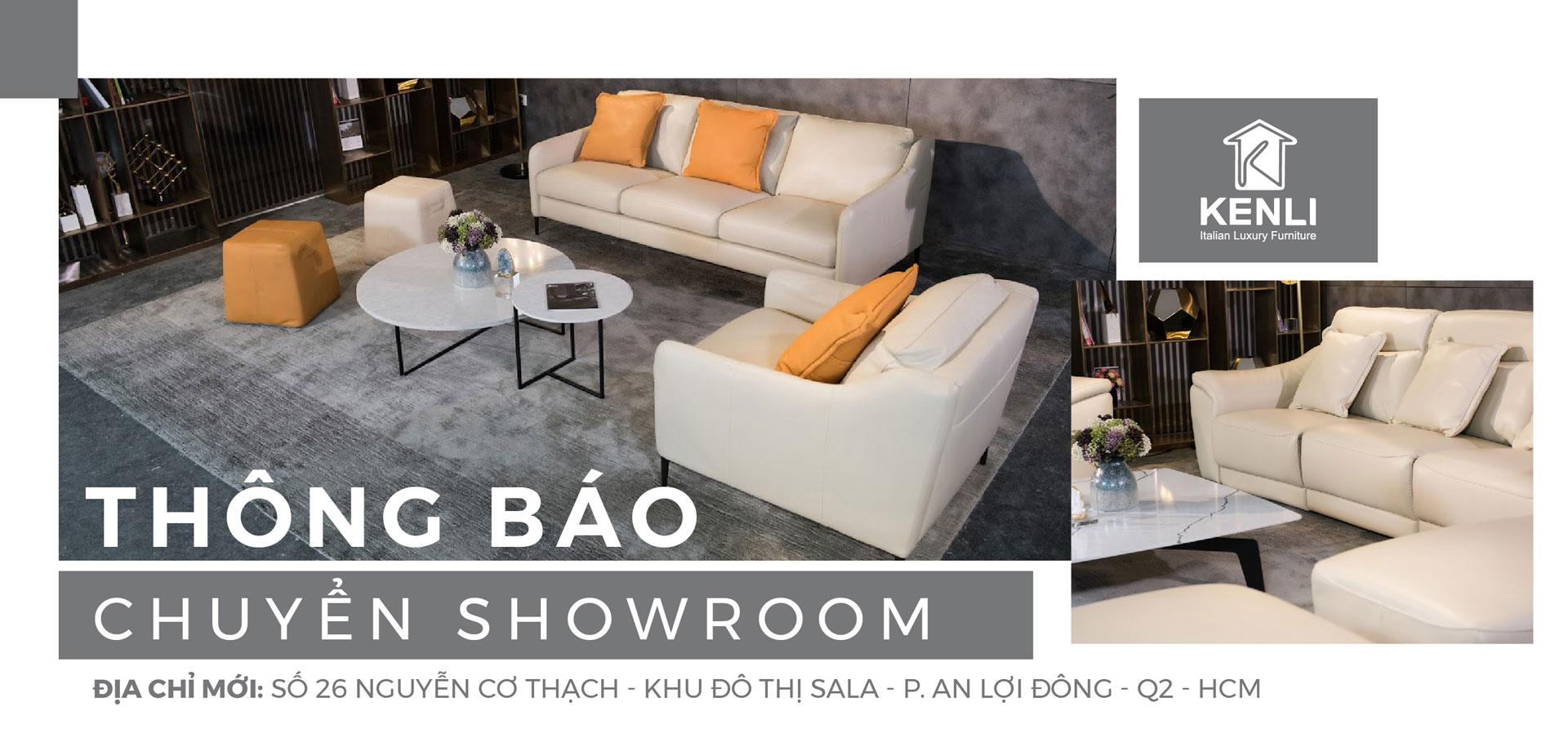 Thông báo chuyển showroom Hồ Chí Minh