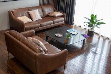 Sofa M&D E130, bàn trà BaBa, bàn ghế ăn Howard Grace – Nhà chị Trang khu Vinhome Green Bay, Hà Nội