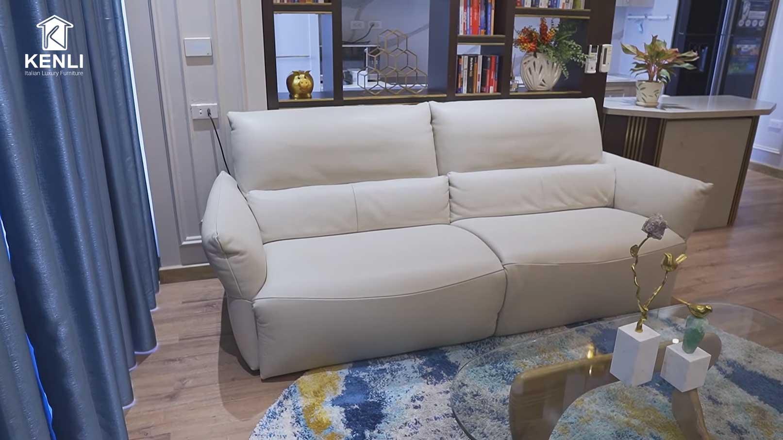Sofa da thật Emma