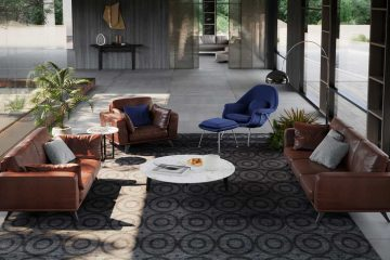 Sofa da thật F019 full bộ;