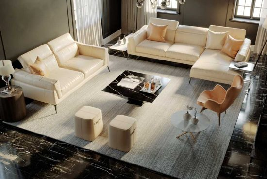 Sofa da thật F021 full bộ