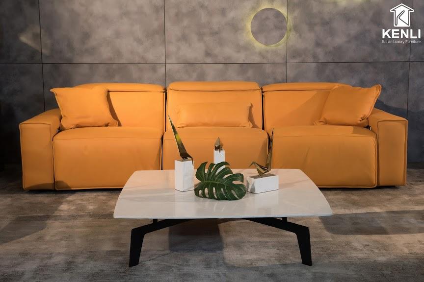 Sofa da thật EE87 văng 2