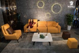 Sofa da thật EE87 văng 2 DC (L2220xW1140xH860/1080)