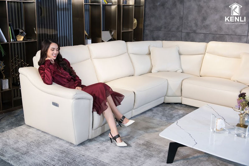 sofa da thật EE27
