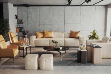 Sofa da thật EE87 full bộ (văng 3 + văng đơn);