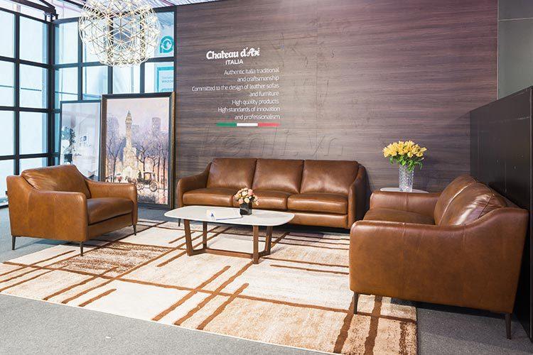 Sofa da E130 sang trọng đẳng cấp