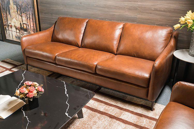 Sofa E130 văng 3 nâu sang trọng