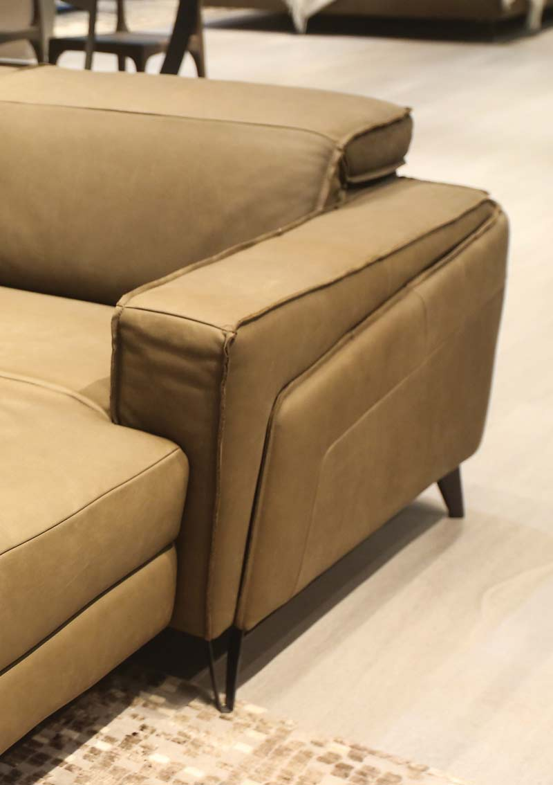 Sofa da thật FE10 văng L 4 chỗ có động cơ3