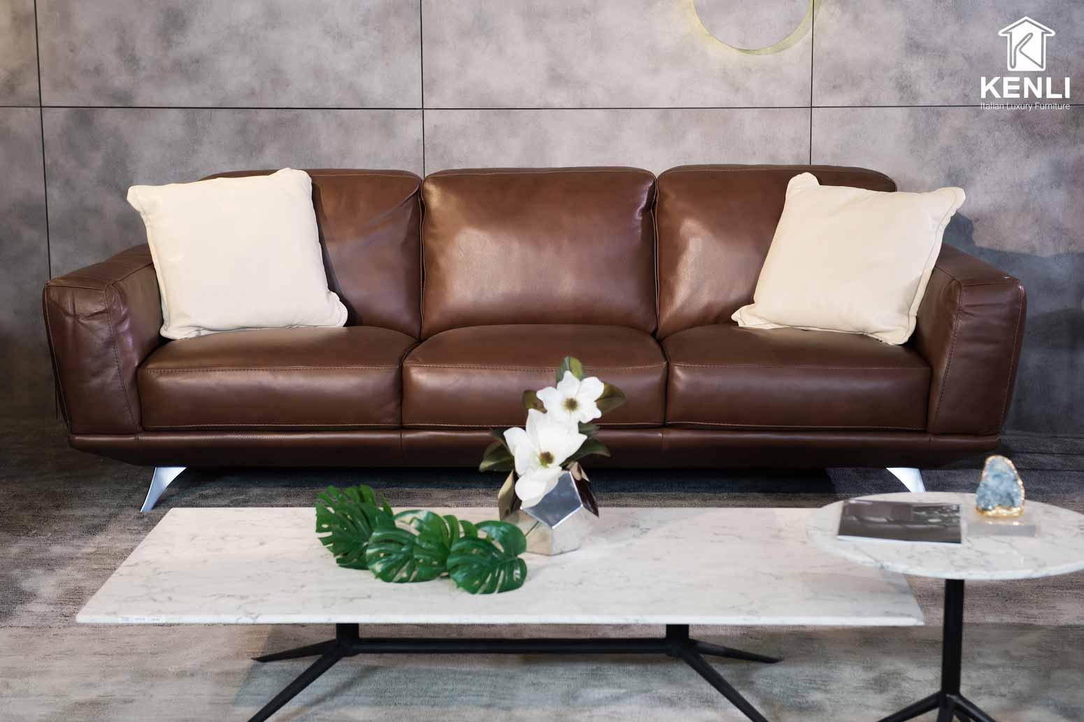 Sofa da thật F019 full bộ8