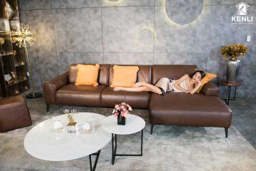 Sofa da thật Sissy E119 văng L3