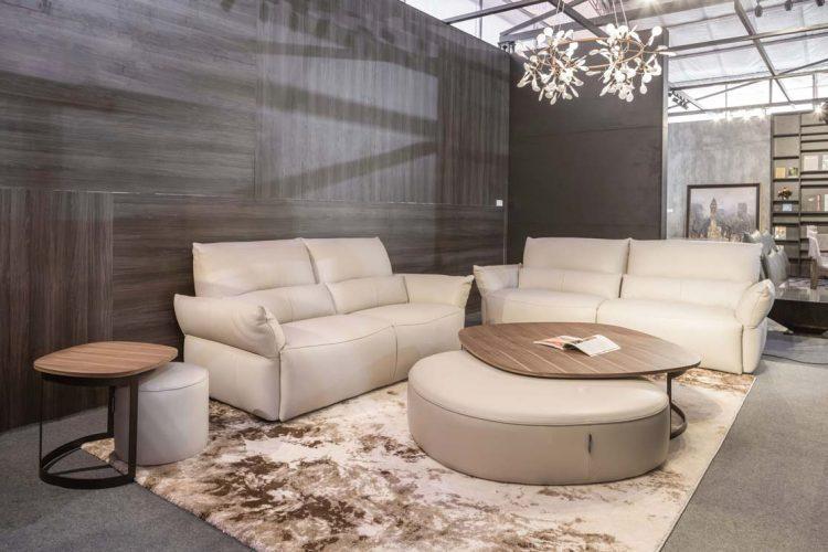 Kết hợp bàn trà solange với sofa da thật Italia Softy - một sự kết hợp hoàn hảo