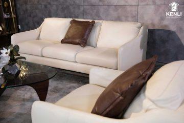 Sofa da thật E130 văng 3