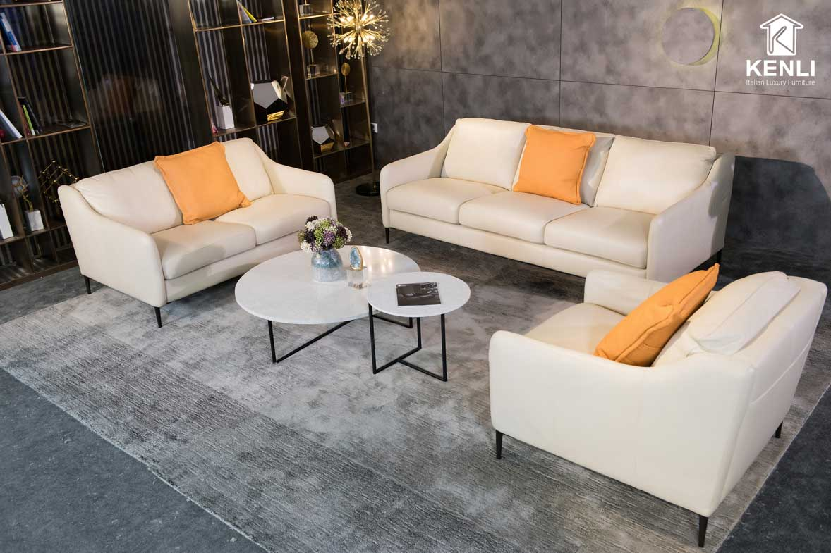Sofa da thật E130 full bộ3