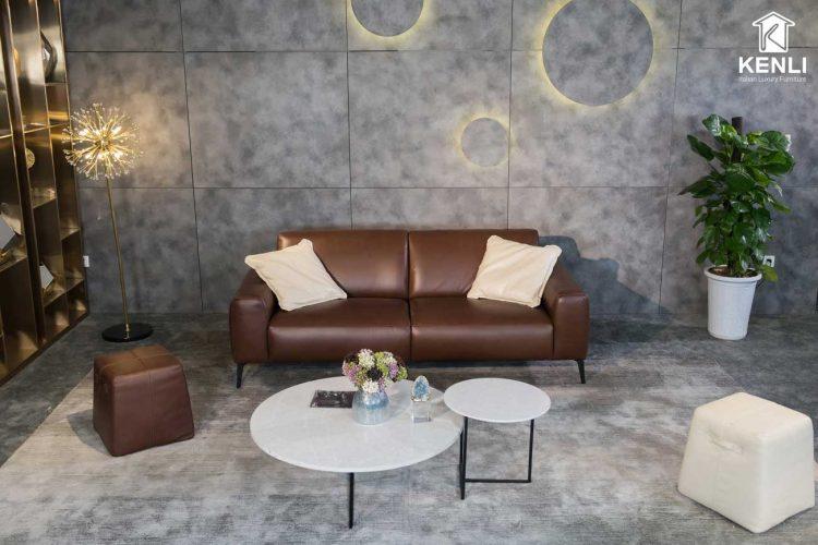 Sofa da thật Sissy E119 văng 2 có thiết kế tinh tế
