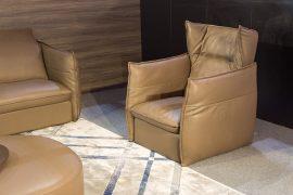 Sofa da thật Italia Softy văng đơn (L980xW1110xH1040)