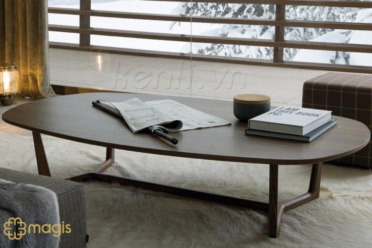 Bàn trà Concorde với mặt bàn làm bằng gỗ