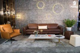 Sofa da thật FE10 văng 3 lớn DC (L2820xW1090xH780/1080)