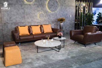 Sofa da thật MD F019 văng đơn