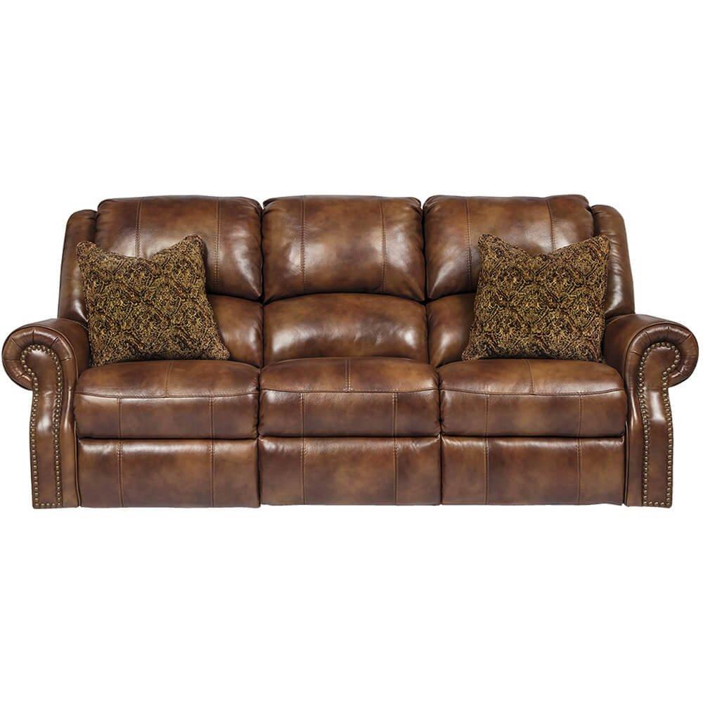 sofa da thật Ashley tay cuộn cổ điển