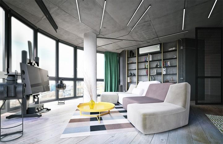 3 mẫu căn hộ hiện đại được thiết kế theo phong cách công nghiệp