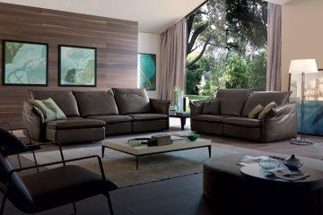 Sofa da thật Italia Softy full bộ (Văng 3 + Văng đơn + 2 Ghế Eastway)