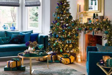 Ý tưởng trang trí phòng khách cho giáng sinh ấm áp