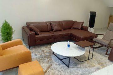 Sofa da thật FE10 – Anh Cường tại Lucky Dragon, Quận 7
