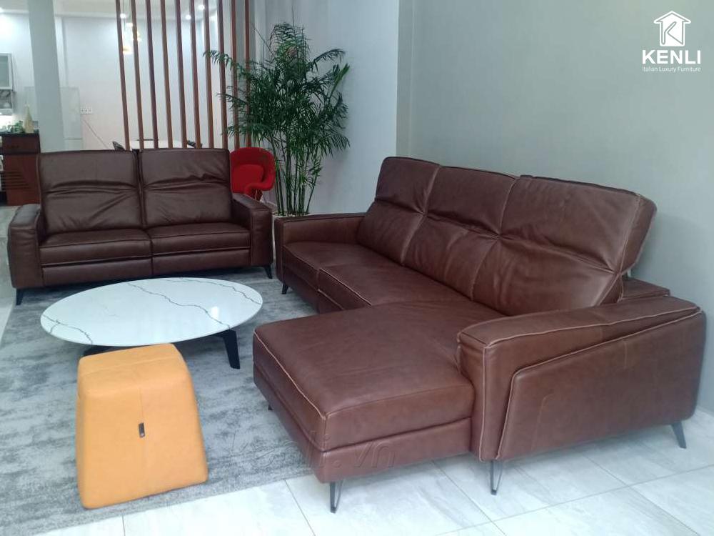 sofa da fe10 nhà khách kenli