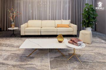 20 mẫu sofa da phòng khách cực Hot năm 2020