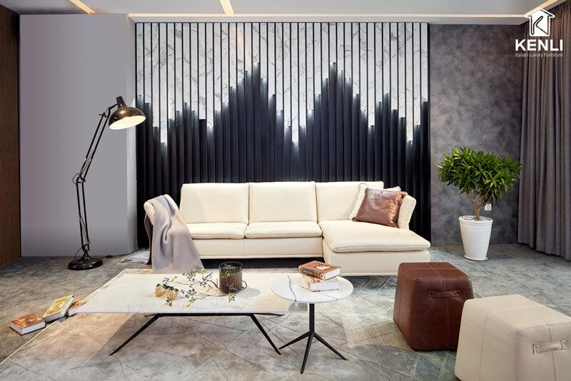 Sofa da thật F026