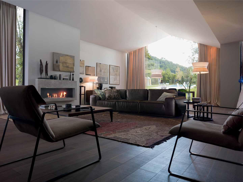 Chọn sofa da chuẩn cho phòng khách hiện đại