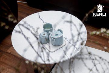 Bí quyết bảo quản bàn trà mặt đá luôn sáng bóng