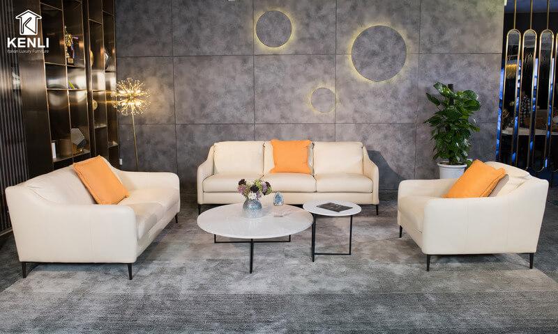 Sofa da thật E130