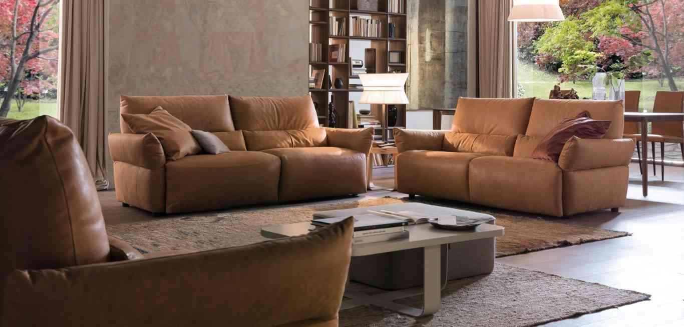 Sofa da nhập khẩu Emma đến từ thương hiệu Chateau d'Ax