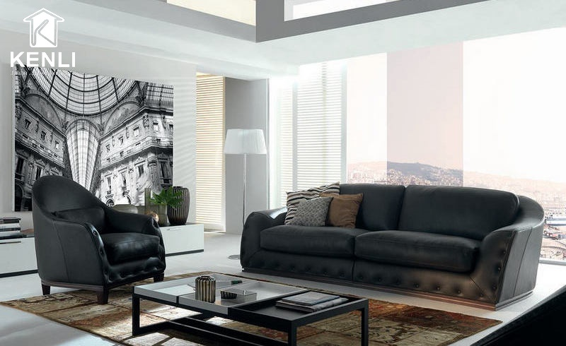 Ghế sofa màu đen cao cấp từ Chateau d'Ax