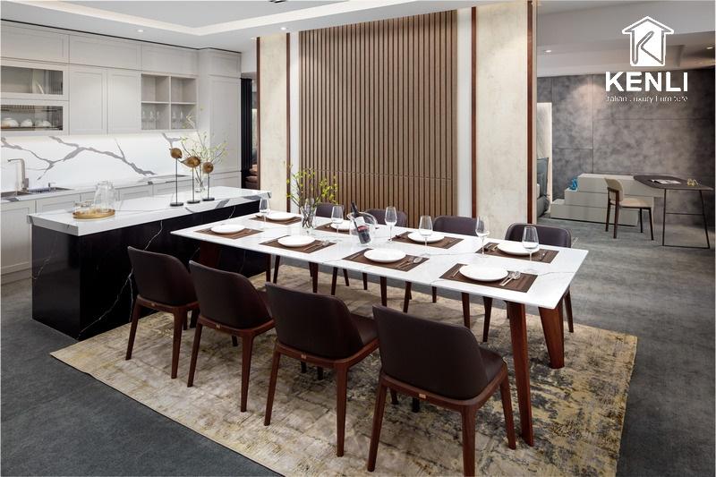 15 bộ bàn ăn đẹp cho phòng bếp chung cư hiện đại